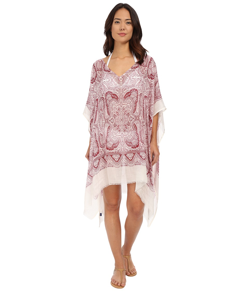 Hat Attack - Paisley Poncho (Burgundy) Women's Swimwear