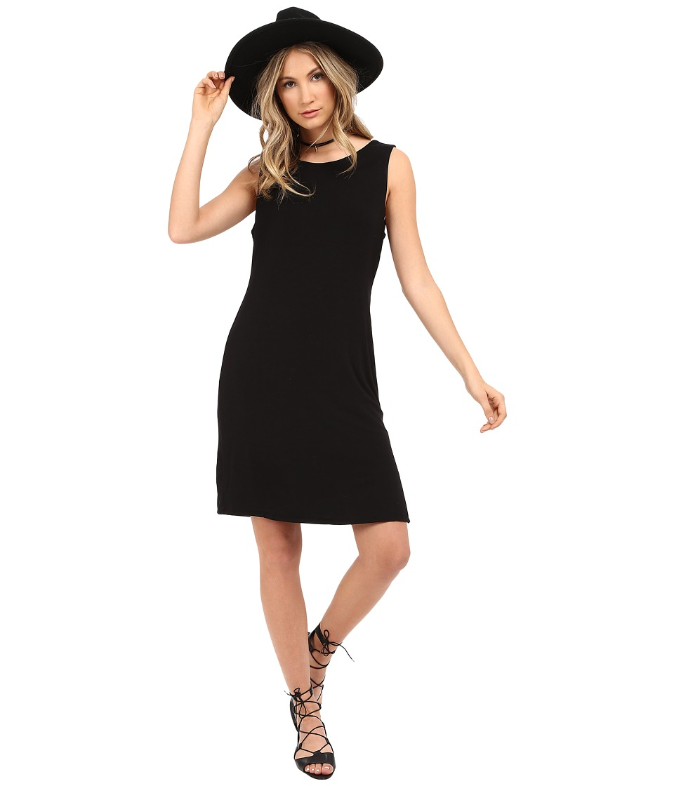 HEATHER - Cowl Back Dress (Black) Women's Dress