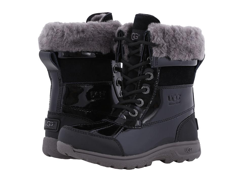 UGG Kids - Butte II Patent (Little Kid/Big Kid) (Black) Kids Shoes