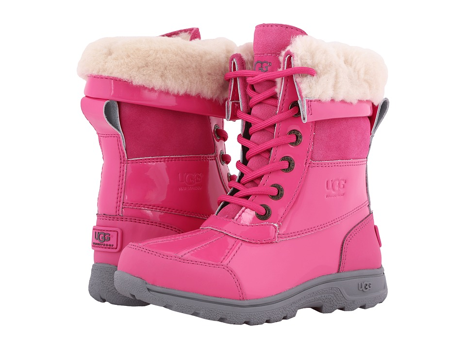 UGG Kids - Butte II Patent (Little Kid/Big Kid) (Diva Pink) Kids Shoes