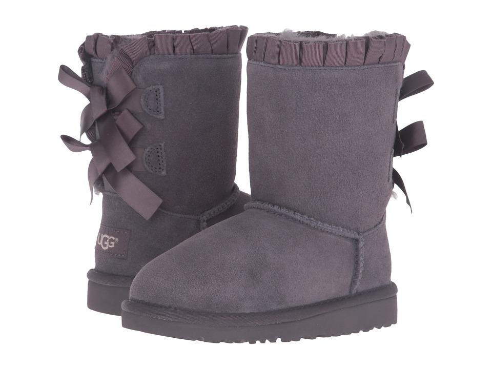 UGG Kids Bailey Bow Ruffles (Toddler/Little Kid) (Nightfall) Girls Shoes