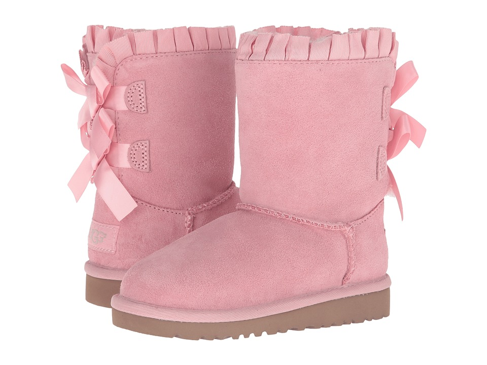 UGG Kids - Bailey Bow Ruffles (Toddler/Little Kid) (Baby Pink) Girls Shoes