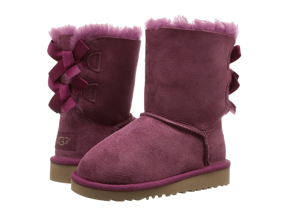 UGG Kids - Bailey Bow (Toddler/Little Kid) (Bougainvillea) Girls Shoes