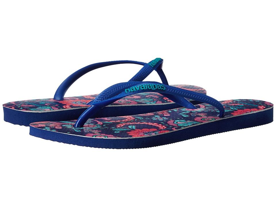 Havaianas Slim Liberty Sandal (Marine Blue) Women