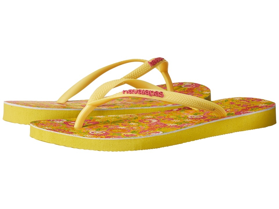 Havaianas Slim Liberty Sandal (Revival Yellow) Women