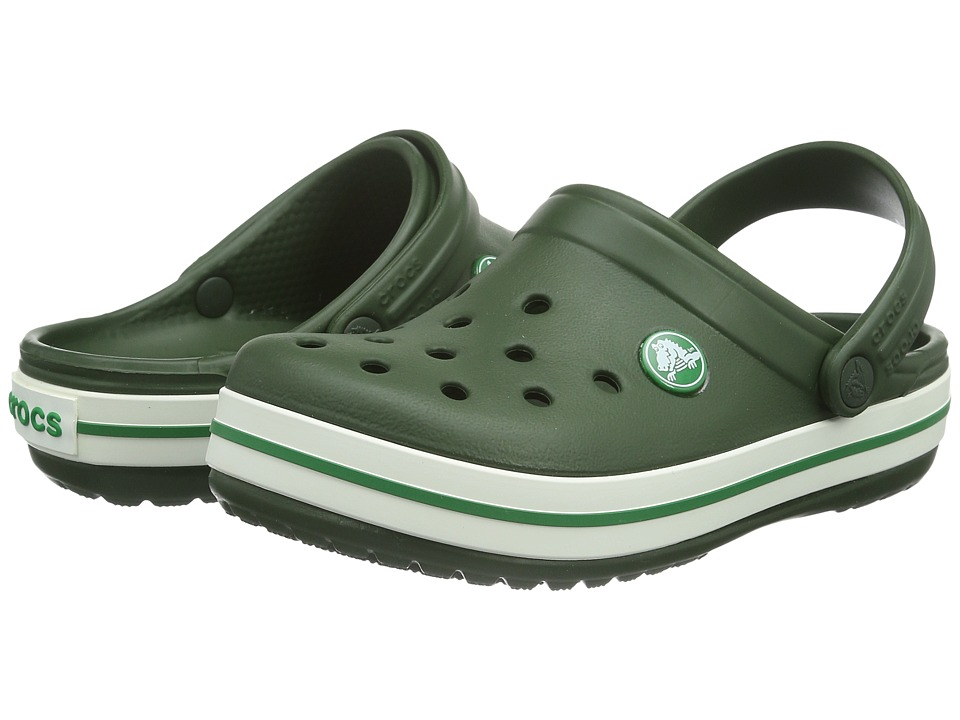 Crocs Kids - Crocband (Toddler/Little Kid) (Forest Green) Kids Shoes