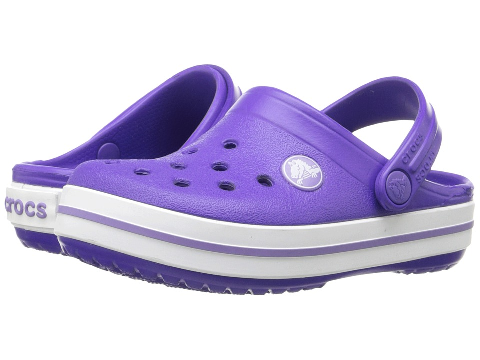 Crocs Kids - Crocband (Toddler/Little Kid) (Ultraviolet/White) Girls Shoes