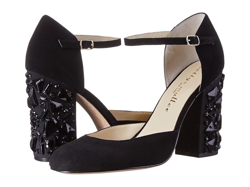 Bettye Muller Bejeweled (Black Kid Suede) High Heels