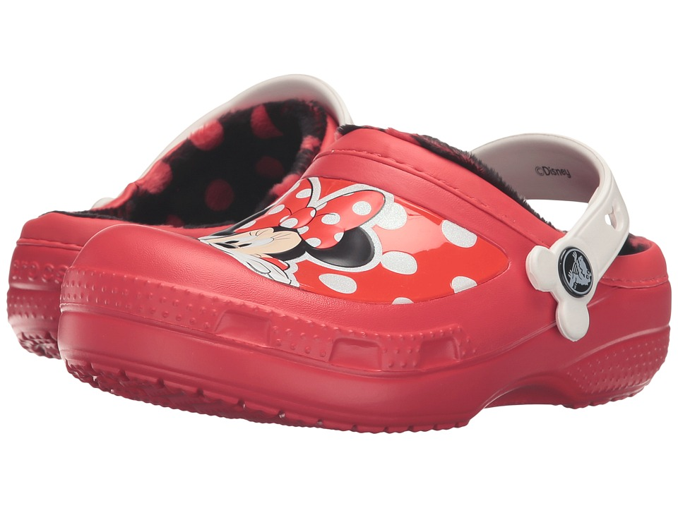Crocs Kids - CC Minnie Lined Clog (Toddler/Little Kid) (Pepper) Girls Shoes