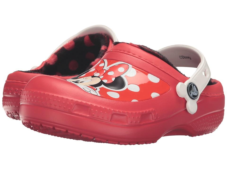 Crocs Kids - CC Minnie Lined Clog (Toddler/Little Kid) (Pepper) Girls Shoes