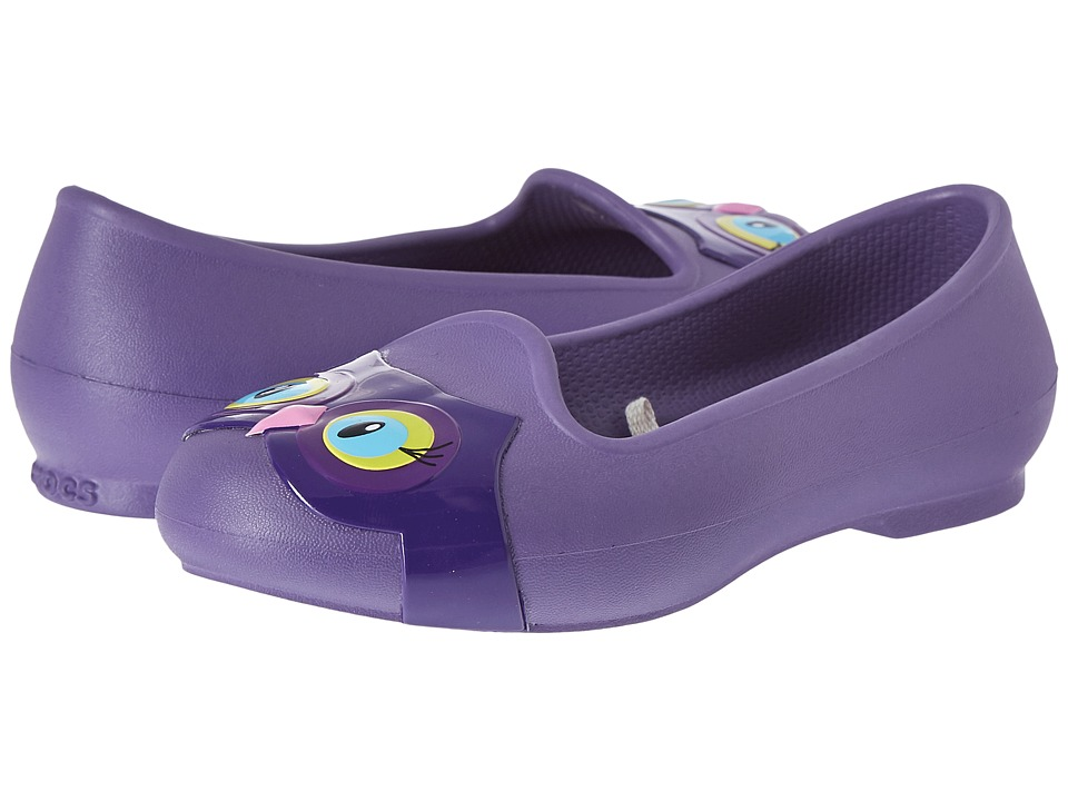 Crocs Kids - Eve Animal Flat (Toddler/Little Kid) (Blue Violet) Girls Shoes