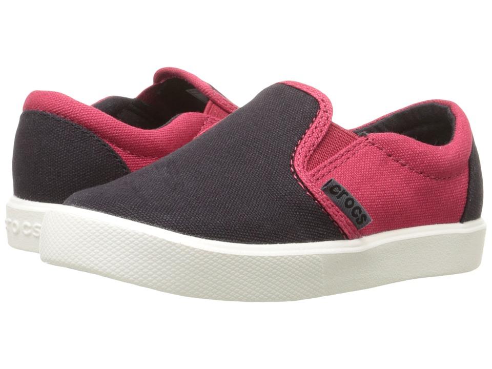Crocs Kids CitiLane Novelty Slip-On Sneaker (Toddler/Little Kid) (Black/Pepper) Boys Shoes