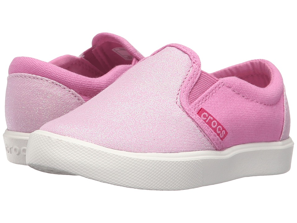Crocs Kids CitiLane Novelty Slip-On Sneaker (Toddler/Little Kid) (Carnation/Party Pink) Boys Shoes