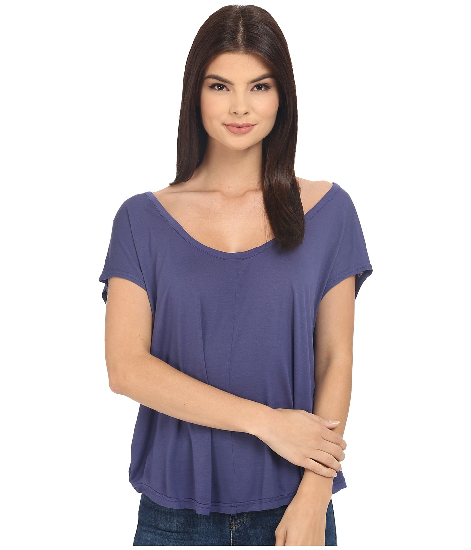Bench - Spot Short Sleeve Top (Deep Cobalt) Women's Short Sleeve Pullover