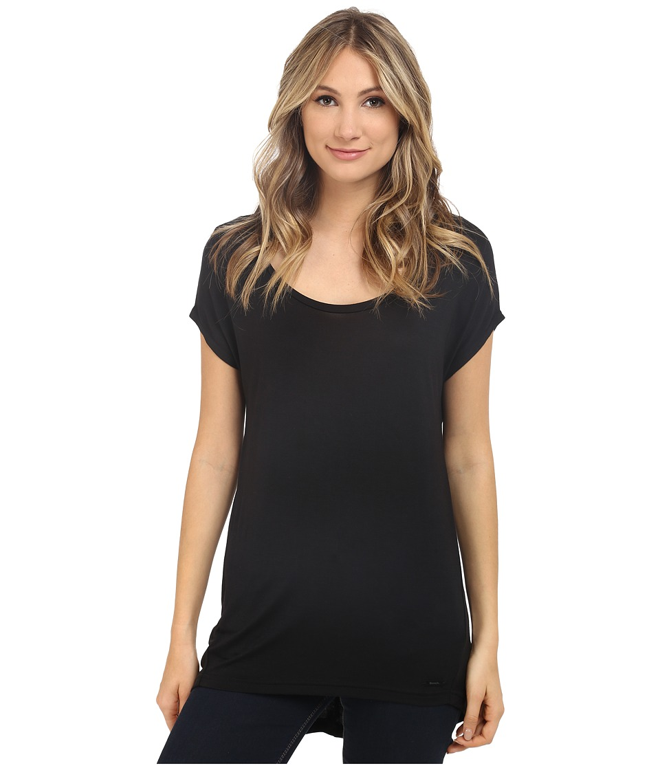 Bench - Speculation Short Sleeve Top (Jet Black) Women's Short Sleeve Pullover