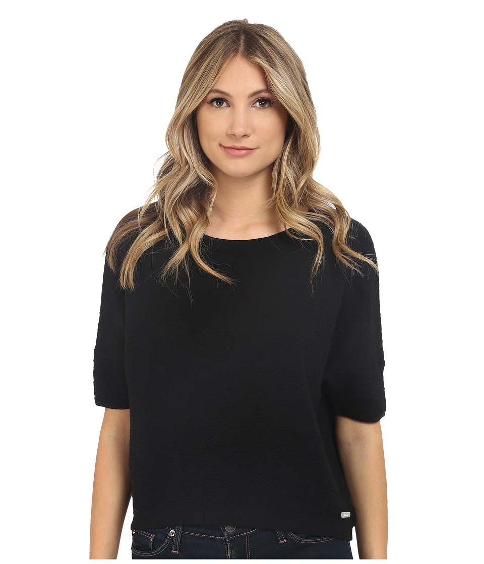 Bench - Walkway Short Sleeve Top (Jet Black) Women's Short Sleeve Pullover