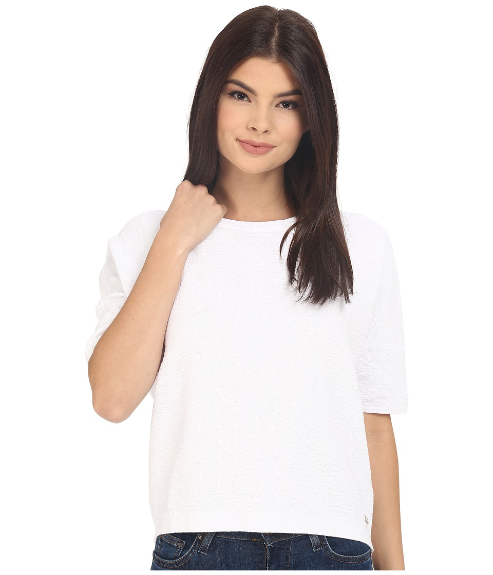 Bench - Walkway Short Sleeve Top (Bright White) Women's Short Sleeve Pullover