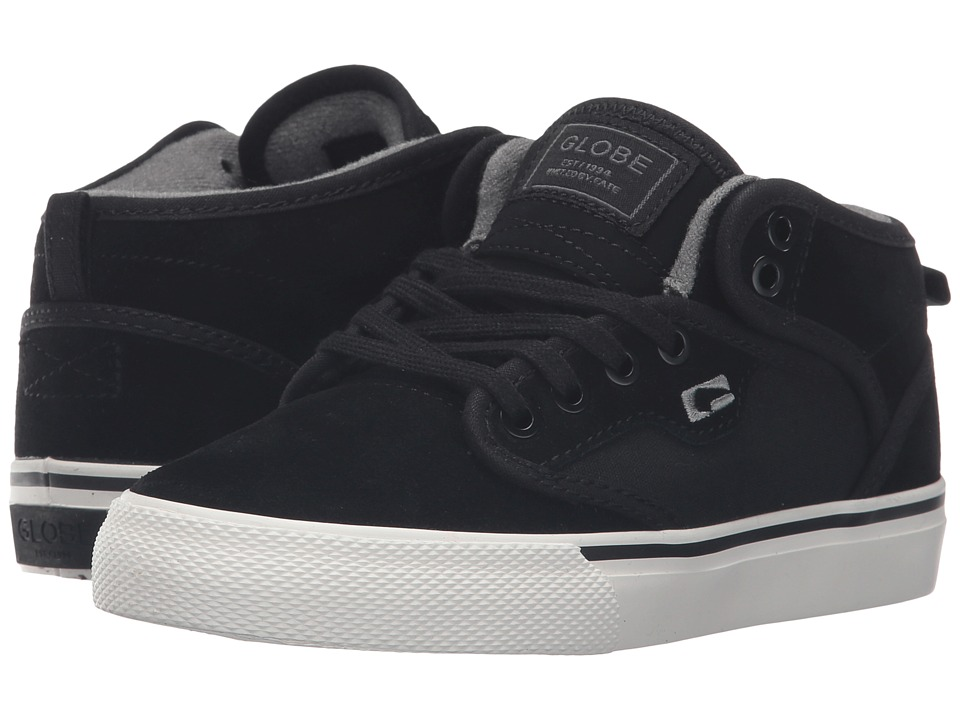 Globe - Motley Mid (Little Kid/Big Kid) (Black/Antique) Men's Skate Shoes