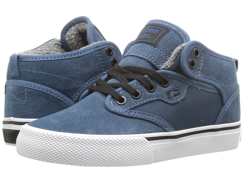 Globe - Motley Mid (Little Kid/Big Kid) (Sea Blue/White) Men's Skate Shoes