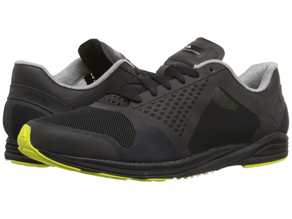 adidas by Stella McCartney - Adizero Racing (Core Black/Core Black/Lab Lime F12) Women's Lace up casual Shoes