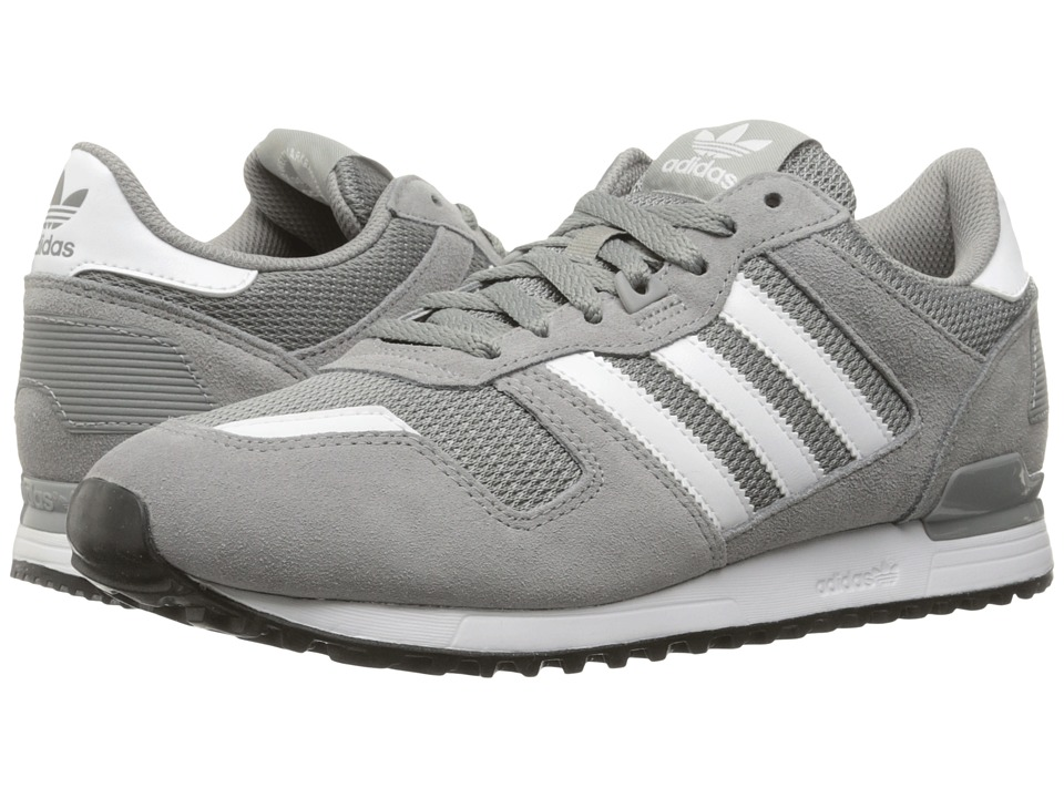 adidas Originals ZX 700 (Charcoal Heather Solid Grey/Footwear White/Core Black) Men