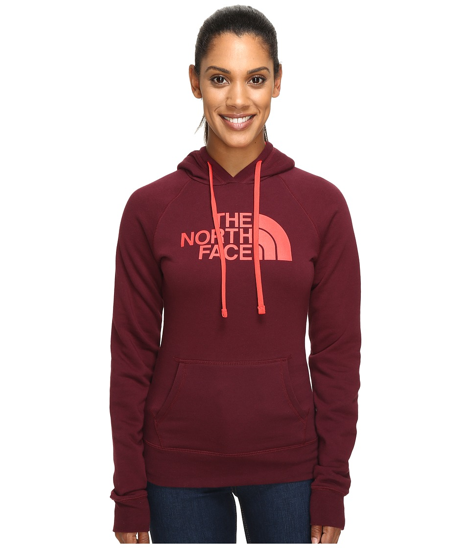 The North Face Half Dome Hoodie (Deep Garnet Red/Melon Red) Women