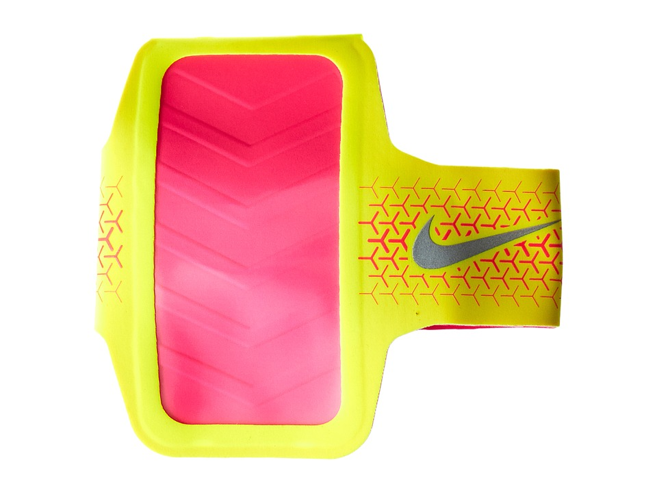 Nike - Challenger Arm Band (Volt/Hyper Pink/Silver) Athletic Sports Equipment