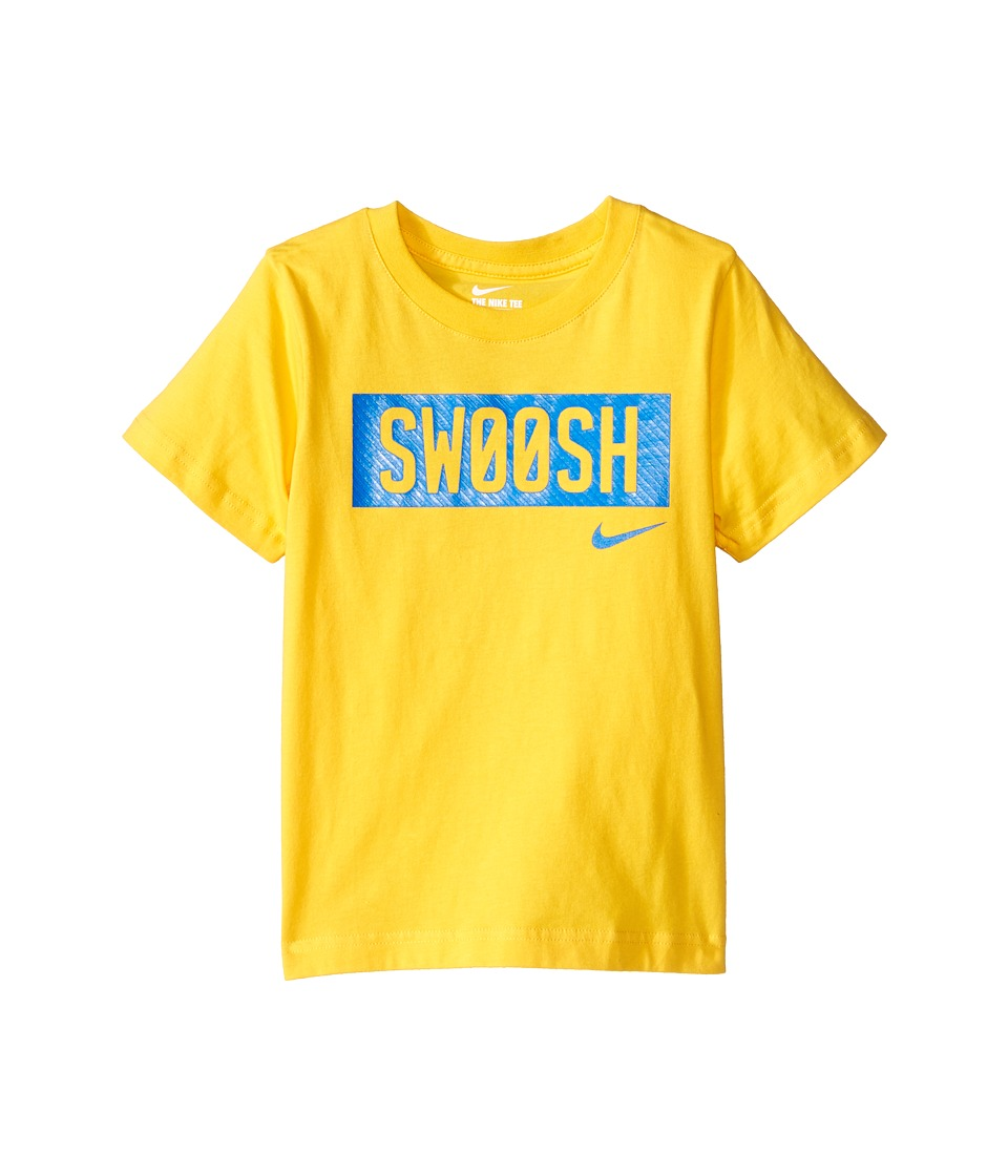Nike Kids - Swoosh Short Sleeve Tee (Little Kids) (Varsity Maize) Boy's T Shirt