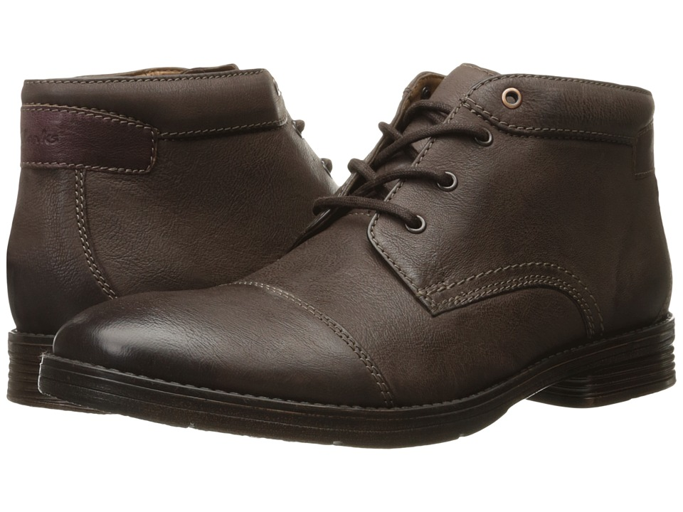 Clarks - Devington Cap (Brown Leather) Men's Shoes