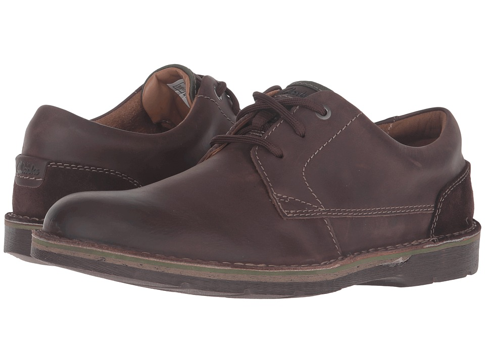Clarks Edgewick Plain (Dark Brown Leather) Men