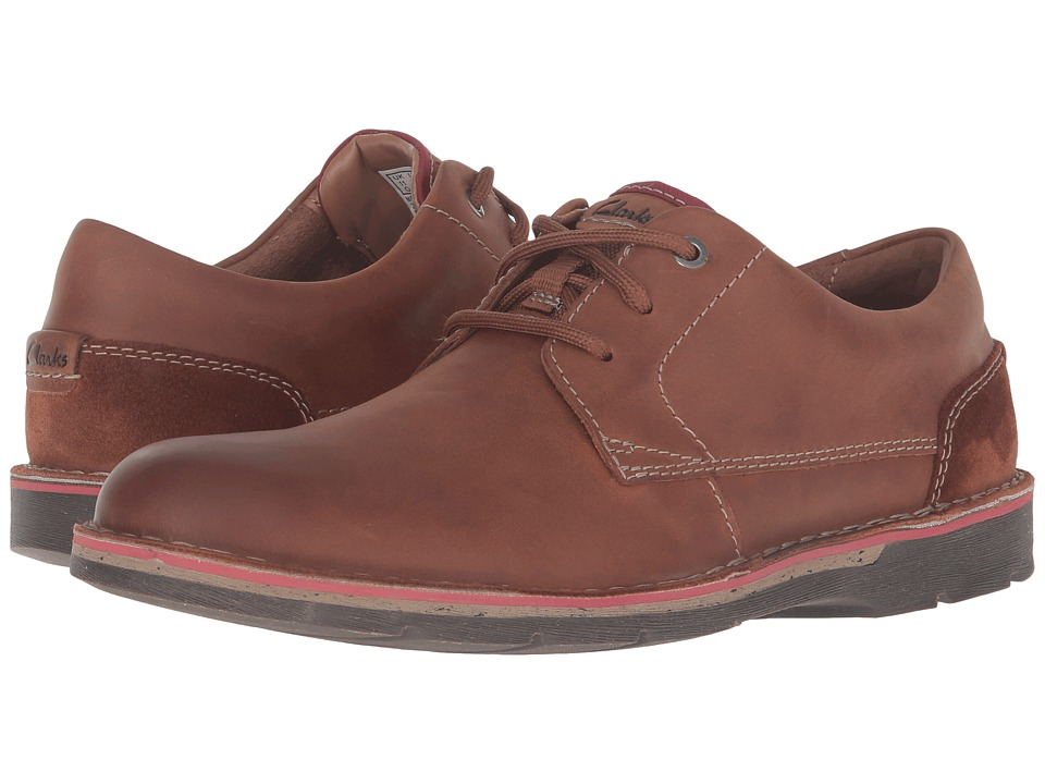 Clarks - Edgewick Plain (Tan Leather) Men's Shoes