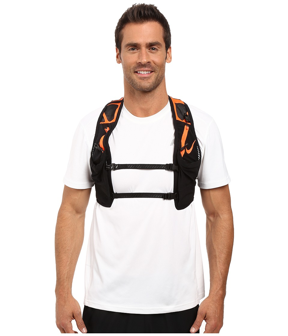 Nike - Trail Kiger Vest (Black/Total Crimson) Athletic Sports Equipment
