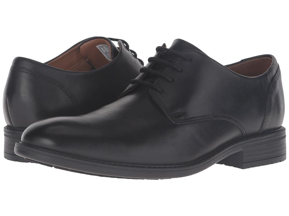 Clarks - Truxton Plain (Black Leather) Men's Shoes