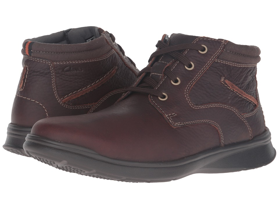 Mens Clarks Cotrell Rise Black Or Brown Oily Leather Casual Lace Up Boots