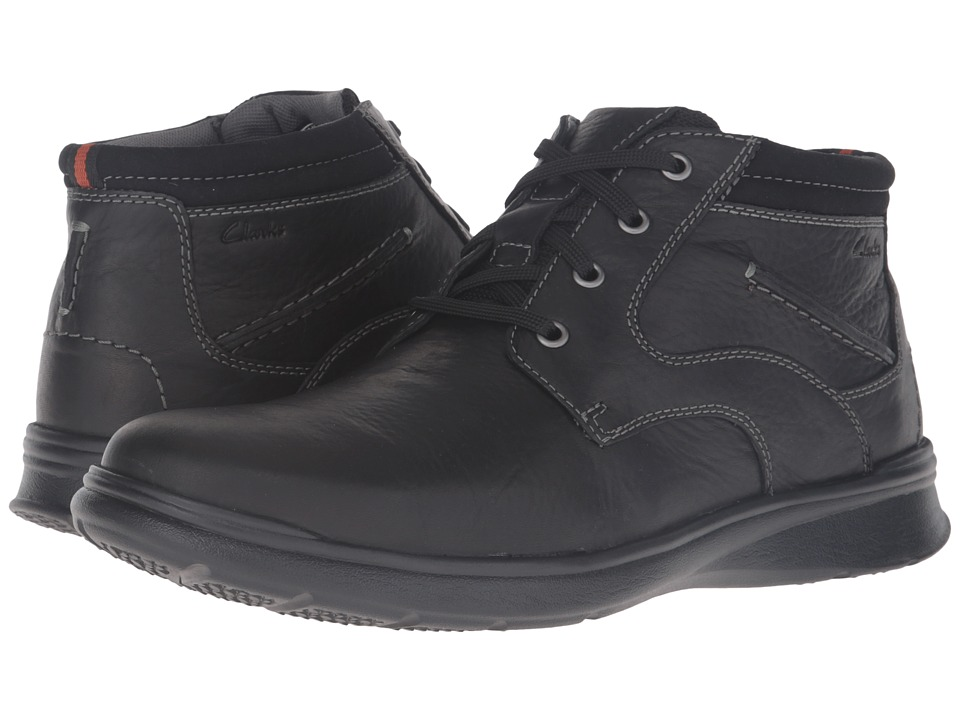 Clarks - Cotrell Rise (Black Oily Leather) Men