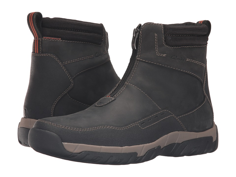 Clarks - Walbeck Rise (Black Leather) Men's Shoes