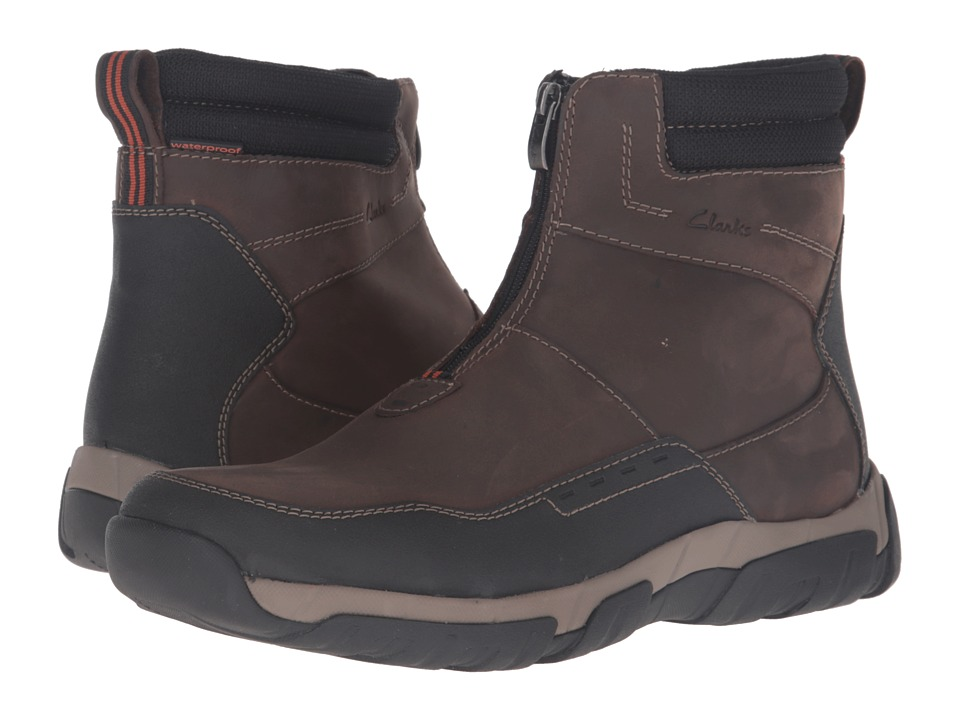 Clarks - Walbeck Rise (Brown Leather) Men's Shoes
