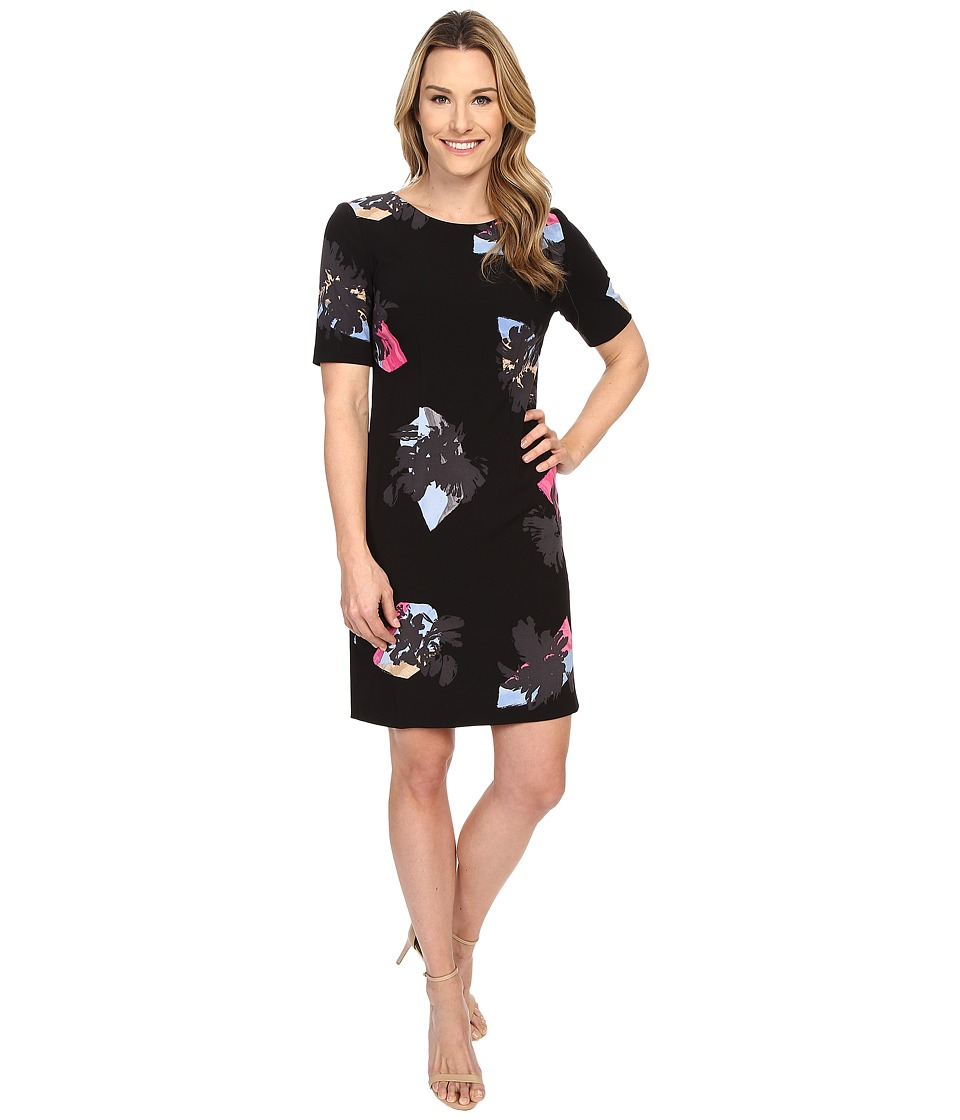 Ellen Tracy - Elbow Sleeve Sheath Dress (Atmospheric Multi) Women's Dress
