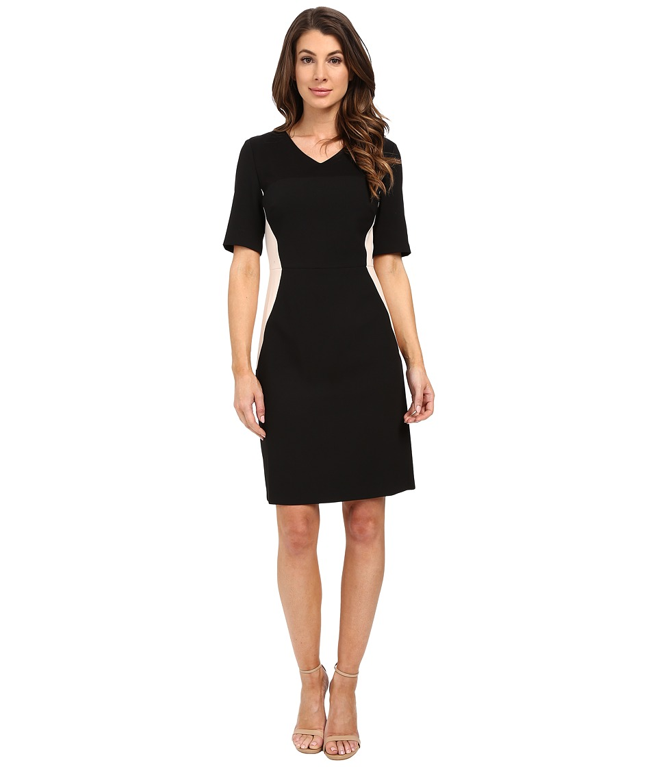 Ellen Tracy - Fittted Elbow Sleeve Sheath Dress (E Black) Women's Dress