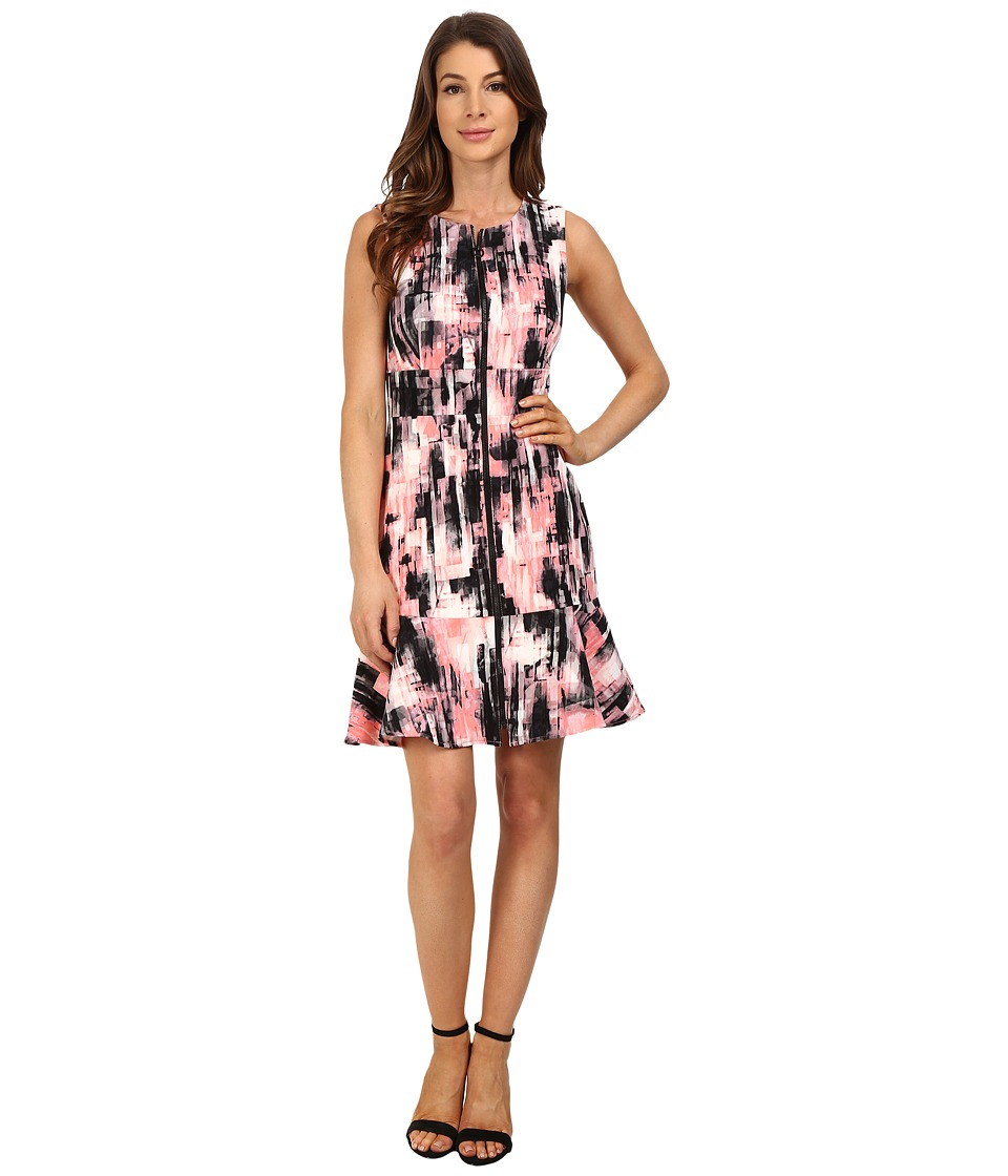 Ellen Tracy - Flounce Hem Sheath Dress (Ethereal Multi) Women's Dress