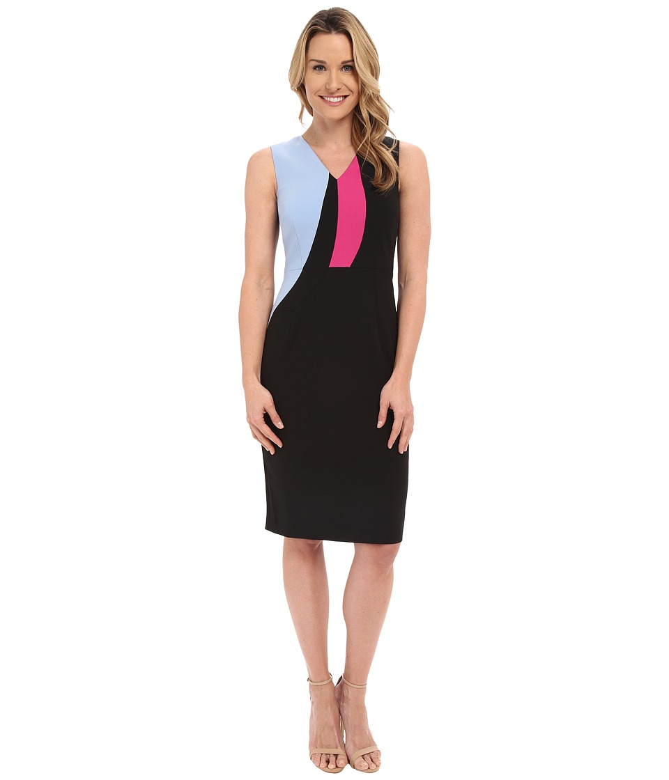 Ellen Tracy - Color Block Sheath Dress (E Black) Women's Dress