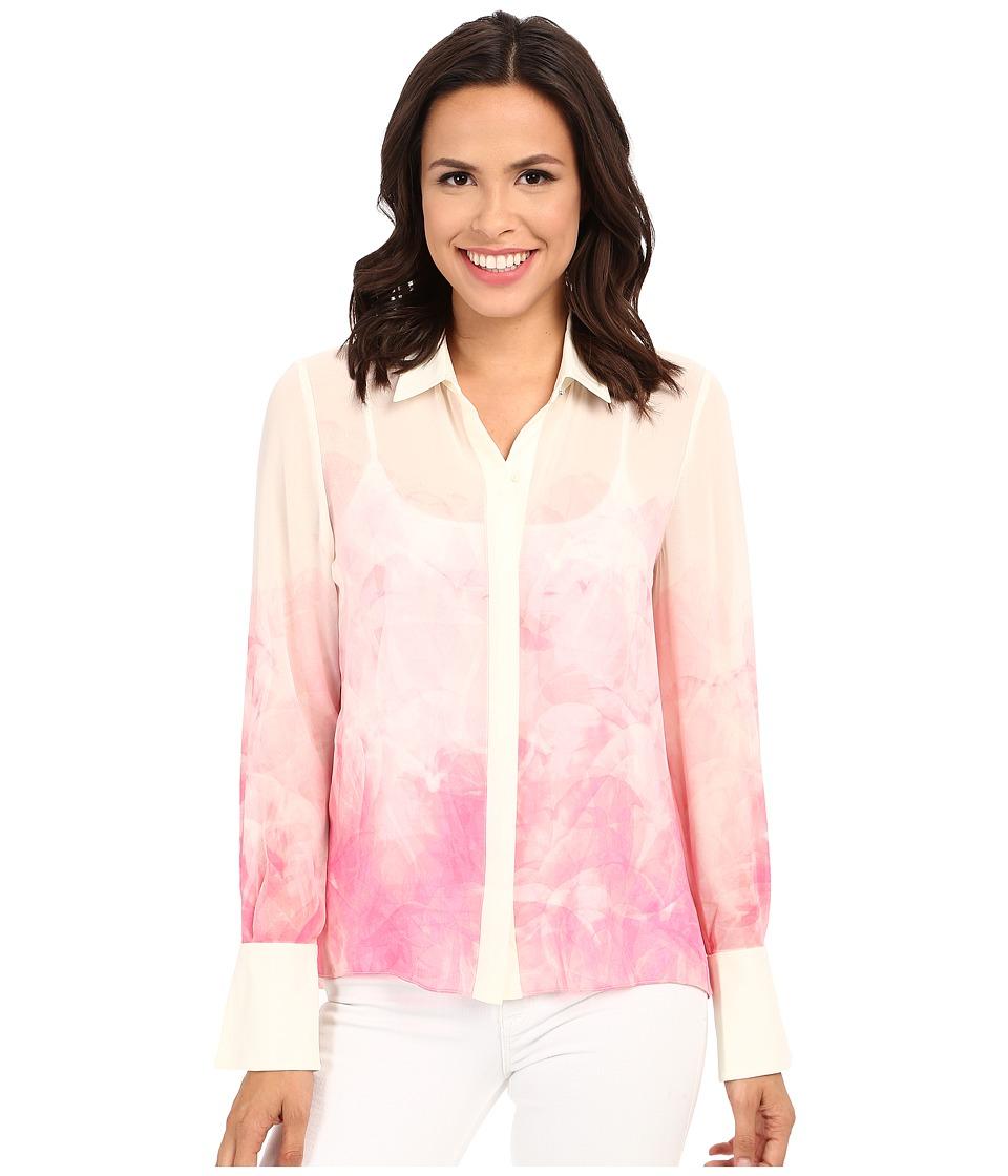 Ellen Tracy - Soft Shirt (Lucent Petals Azalea) Women's Clothing