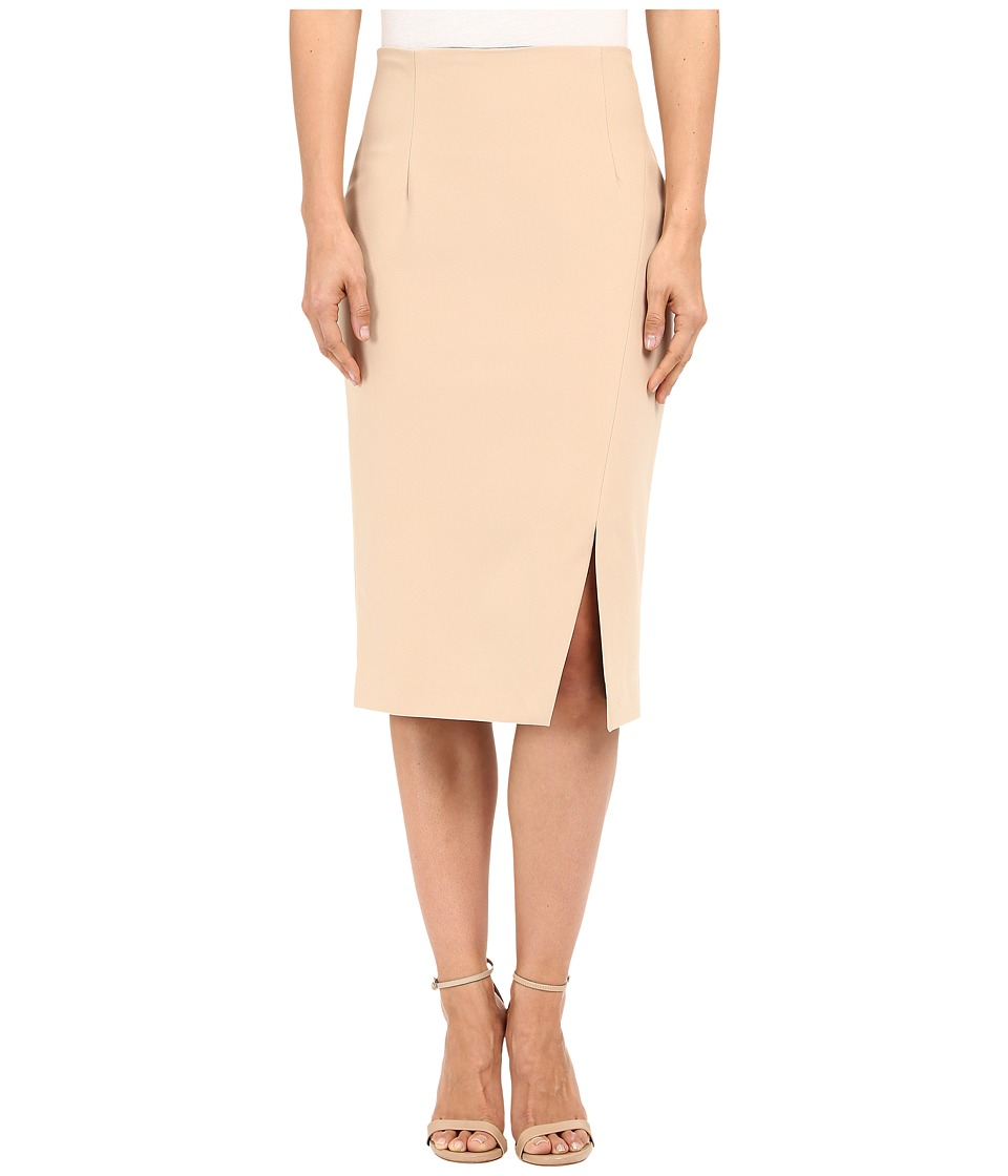Ellen Tracy - Asymmertrical Pencil Skirt (Almond) Women's Skirt
