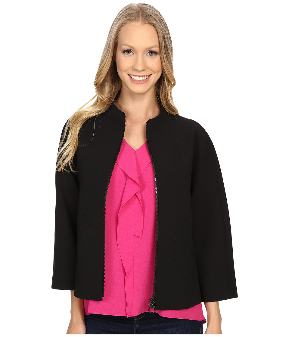Ellen Tracy - Funnel Neck Jacket (E Black) Women's Coat
