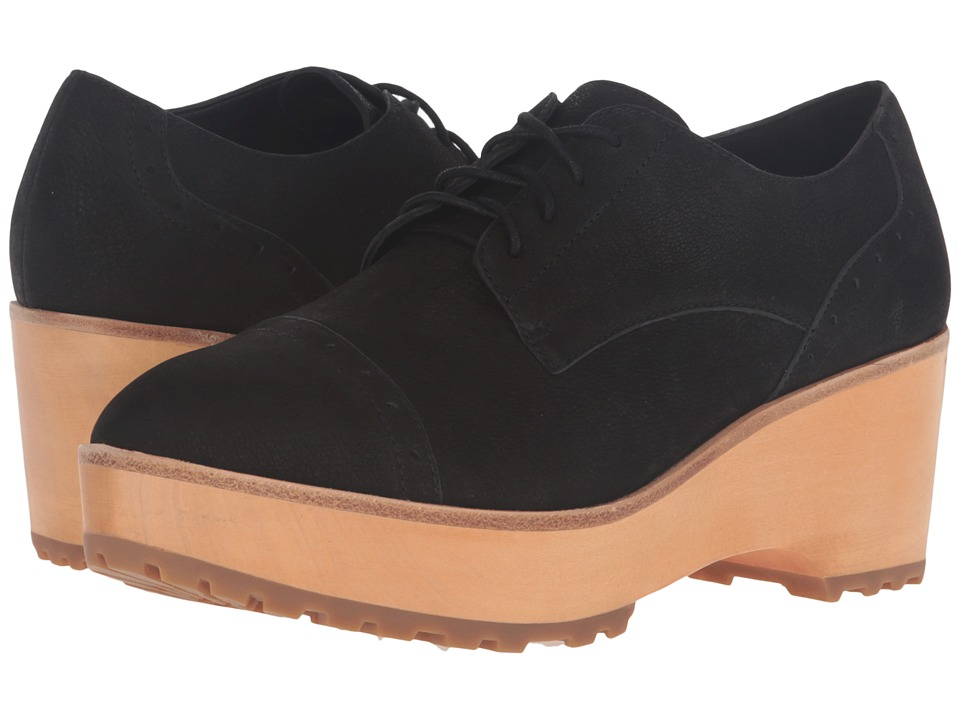 Eileen Fisher - Act (Black Tumbled Nubuck) Women's Lace up casual Shoes