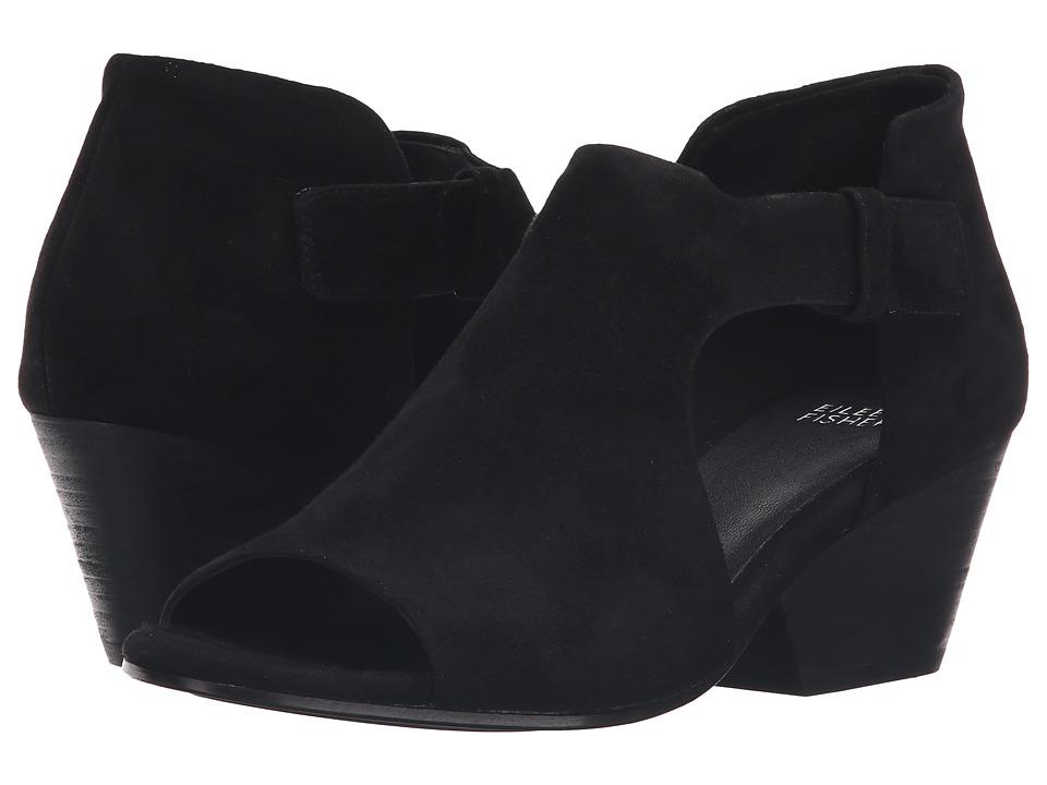 Eileen Fisher - Iris (Black Suede) Women's 1-2 inch heel Shoes