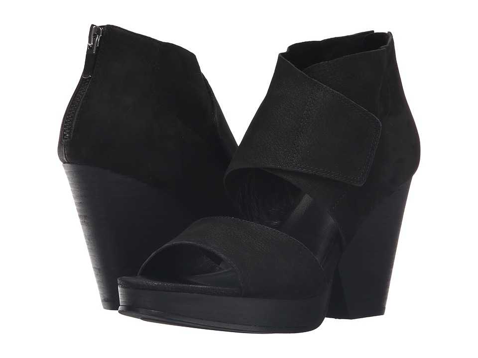 Eileen Fisher - Clip (Black Tumbled Nubuck) High Heels