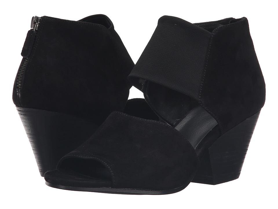Eileen Fisher - Chat (Black Suede/Stretch Mesh) High Heels