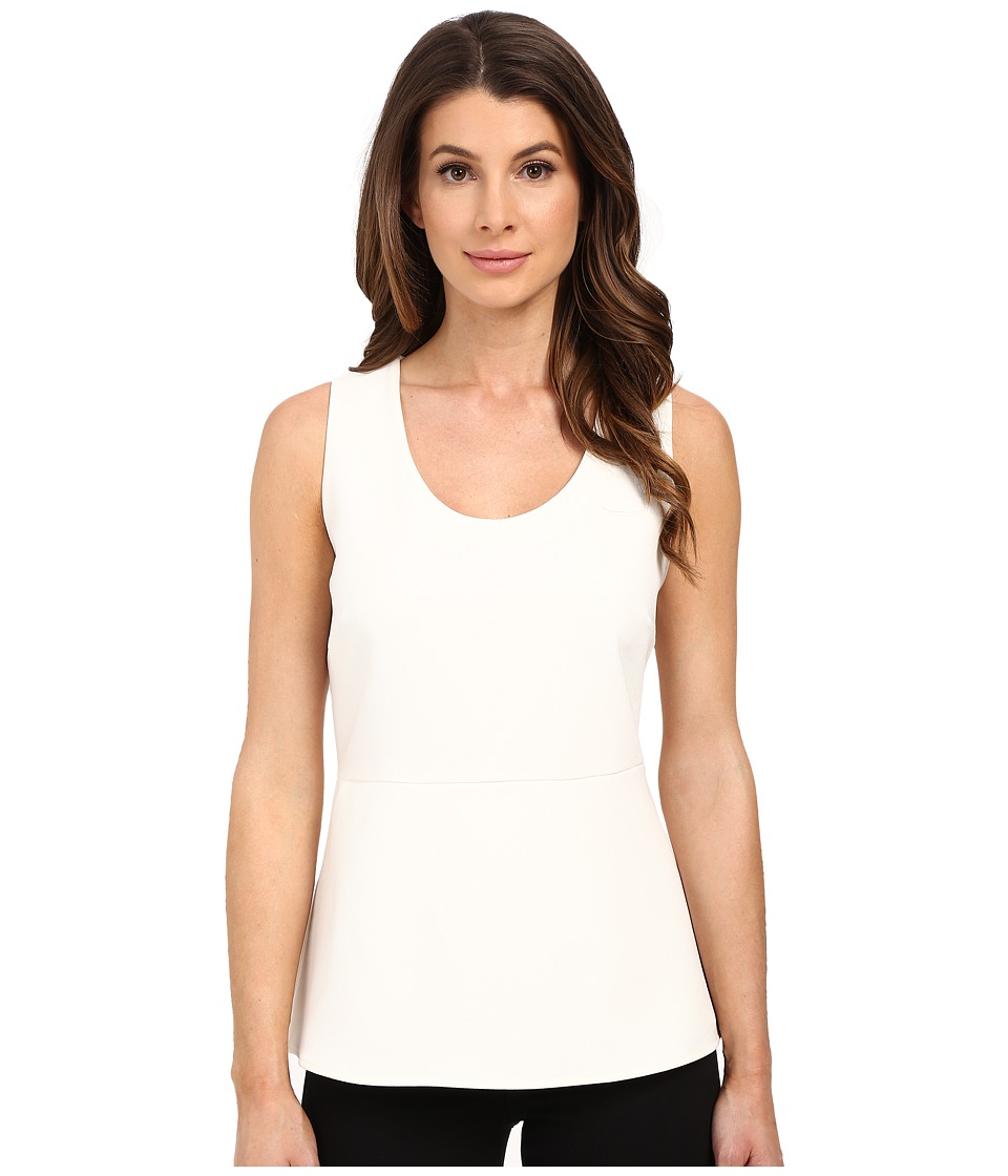 Ellen Tracy - Back Zip Peplum Shell (Off-White) Women's Clothing