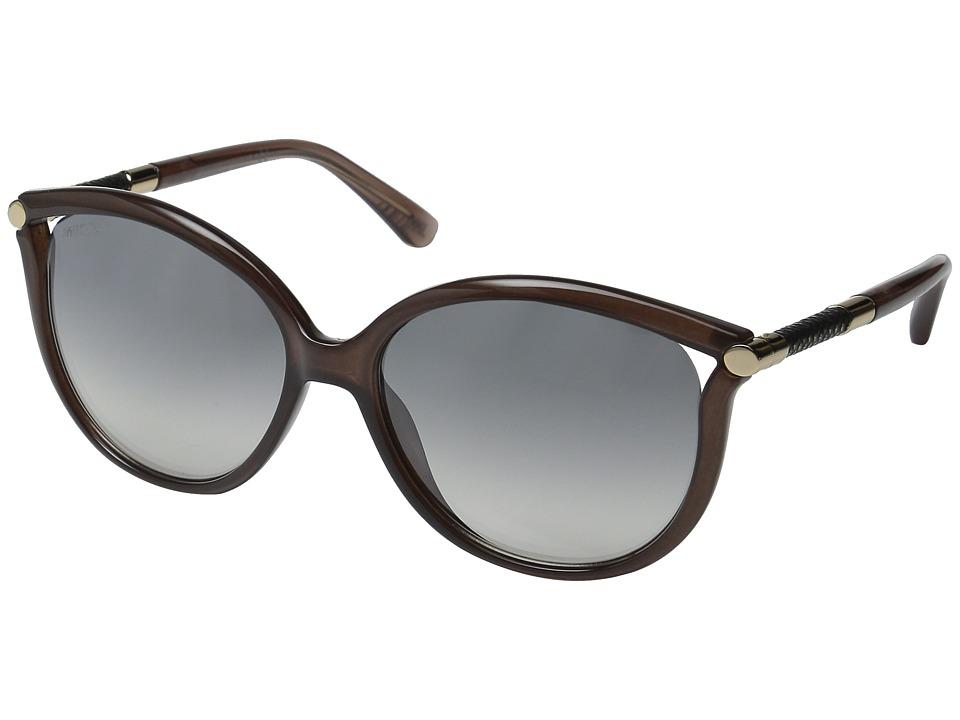 Jimmy Choo - Giorgy/S (Pink/Grey Mirror Silver) Fashion Sunglasses